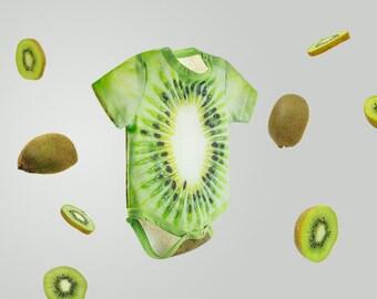 beecoolestcompany Kiwi fruit baby one piece