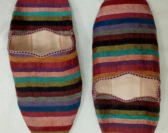 1 pairs of Moroccan Babouche slippers fabric shoes