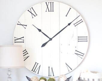 36 in large wall clock cottage white living room wall decor living room
