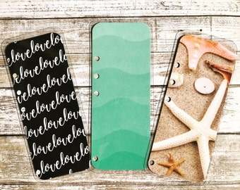 Double sided Laminated A5 Planner Bookmark Page Marker