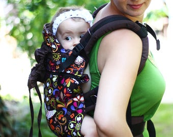 baby carriers slings, full buckle INDIGO handmade
