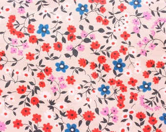 Cotton Steel Fabric, Cotton + Steel, RJR Fabrics, Lucky Strikes, Floral Fabric, Cotton, Little Flowers, Light Brown, Half Metre