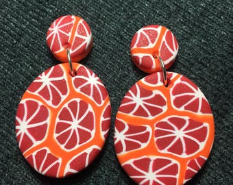 Blood orange dangles