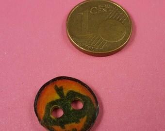 """Children subject button, button with pumpkin ' Jack'oLantern """""""