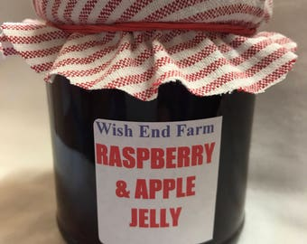 Raspberry & Apple Jelly Homemade 200g (7oz) Jar, Food Gift, Afternoon Tea, Jam Gift, Teacher Gift, Hostess Gift, Birthday Gift