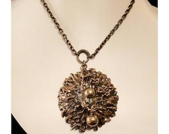 Rare Pentti Sarpaneva bronze necklace. Finland