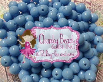 40pc. 10mm Blue Solid Acrylic Beads