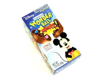 Disney Wonder Ball Milk Chocolate With Candy Inside 2 Balls And Stickers In Each Box Perfect Party Snack Or Party Treat Bag Filler Set of 2