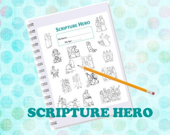 Scripture HERO Book  INSTANT DOWNLOAD Printable -- family and children study guide