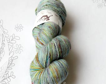 SILK MELODY - Crystal - hand dyed, extra fine merino and mulberry silk yarn, for knitting or crochet, singles