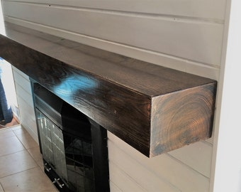 Custom White Oak Fireplace Mantle