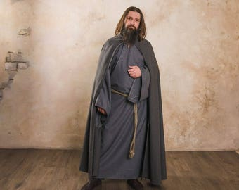 """Cloak with hood, a part of fantasy-style costume """"Wizard"""" by Steel Mastery™"""