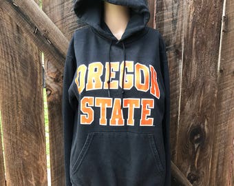 Vintage Oregon State Beavers hoodie sweatshirt college hoody shirt Champion womens unisex block letters