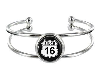 Since 16 Silver Plated Bangle in Organza Gift Bag