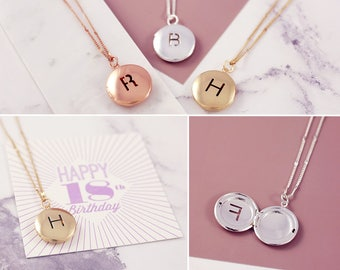 Personalized Locket | 18th Birthday Gift | Milestone Birthday | Initial Locket | Gift for 18th | Photo Locket | 18th Birthday Girl | Lockets