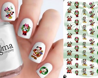 Mickey & Minnie Christmas Nail Decals (Set of 54)