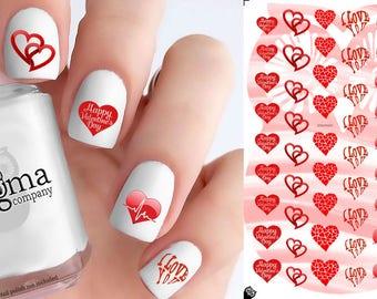 Valentine's Day Nail Decals - Vol II (Set of 54)