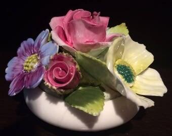 Hand Made Royal Adderley Floral Fine English Bone China Figurine