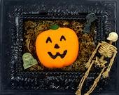 Jack O Lantern Vanilla Pumpkin Pie Scented Bath Bombs, Pumpkin Bath Bomb, Halloween Bath Bomb, Horror Bath Bomb!