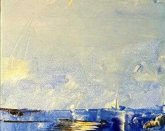 Original MENDOZA modern Contemporary Landscape abstract canvas art painting