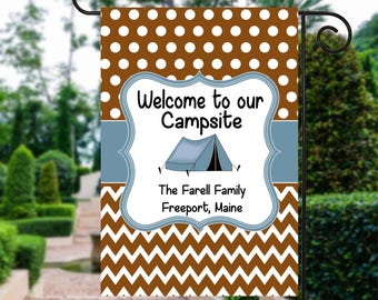 Camping Sign | Camping Welcome Flag | Tent Flag | Camping Flag | Tent Camp Flag | Personalized Camping | Tent Sign | Camp Site Flag