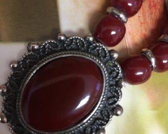 Vintage Faux Agate Necklace