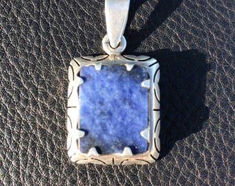 Sterling and Lapis Pendant
