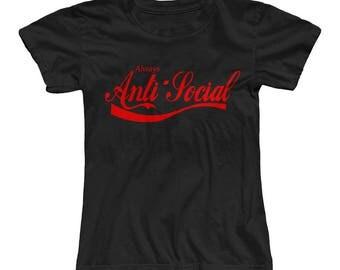 Always Anti-Social ladies spoof t-shirt