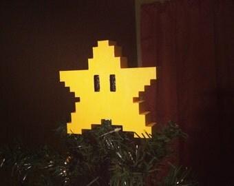 Mario Star Christmas Tree Topper