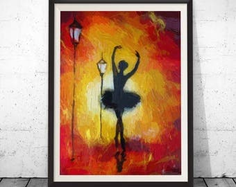 Oil print, oil painting print, fine art print, canvas oil print, ballerina art, degas paintings, ballerina painting, ballet arts, canvas art