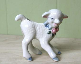 Vintage Small Lamb Planter