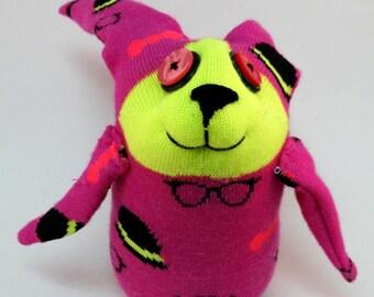 Sock Bunny, Sock Rabbit, Easter Bunny, Top-hat Tony Bunny, Sock animal, Handmade Sock toy, Bunny Plush, Rabbit Stuffed Animal, one of a kind