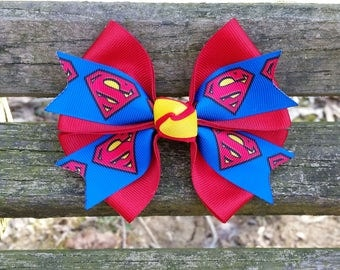 Superman Hair bow (4 inch)
