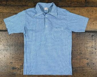 Vintage Brooks Brothers Striped Pocket Polo Shirt