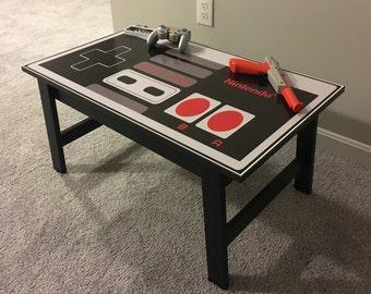Nintendo Custom NES Retro Video Game Controller Coffee Table