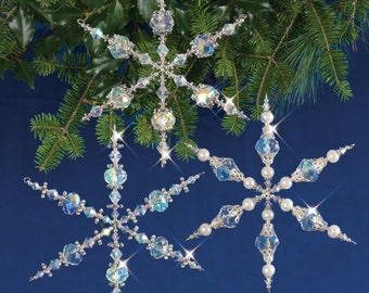 Vintage Snowflakes Beaded Christmas Ornament Kit (VINSNOW)