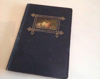 Photo Album Antique circa 1900-1909 Rose gold decor Art Nouveau darkgreen