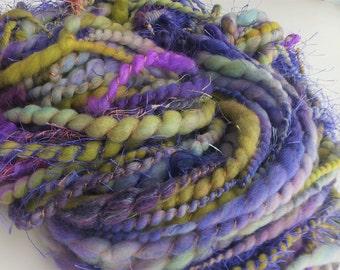 Handspun merino art yarn - Iris