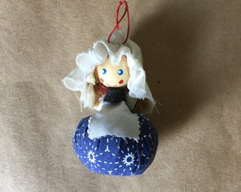 Wooden Hanging Doll Tiny Unusual Doll