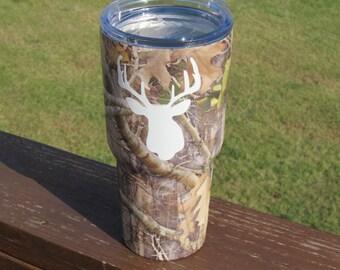 Deer Tumbler / Hunter gift / RTIC Tumbler 20 oz, 30 oz