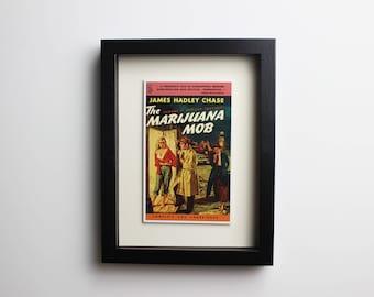 "10"" x 8"" Framed Pulp Fiction Postcard"