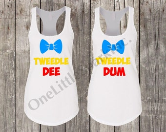 Tweedle Dee and Tweedle Dum Disney Alice in wonderland tweddle dee and Tweedle Dum Alice in wonderland / run disney disney couple