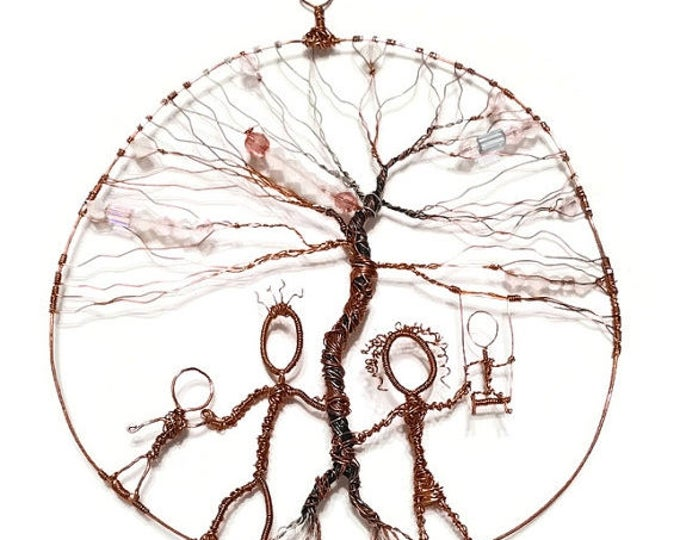 Clearance- Day at the Park - Tree of Life Copper Wall Hanging, Suncatcher