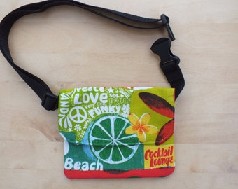 Beach Belt Bag, Waist or Hip Purse, Bumbag, Money Belt, Holiday Travel Wallet