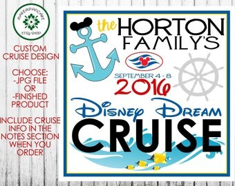 DISNEY CRUISE MAGNET ~ Personalized Cruise Magnet ~ Family Name Personalized ~ Jpeg File or Finished Magnet