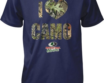 I Love Camo, I Heart Camo, Mossy Oak Obsession Camouflage Men's T-shirt, NOFO_00817