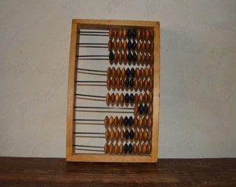 Vintage handheld calculator Abacus wooden Retro calculator Industrial decor Wooden decor Wood Soviet calculator Office decor Soviet counter