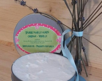 Orange, vanilla and lavender body - butter made in Quebec
