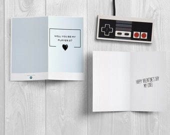 """""""Will you be my player 2? -LOVE CARD"""