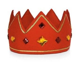 King's Crown - Kids Crown - Boys Fancy Dress - King Dressing Up - Kids Party Crown - Boys Dressing Up - Felt Crown - Boys Crown - Crown